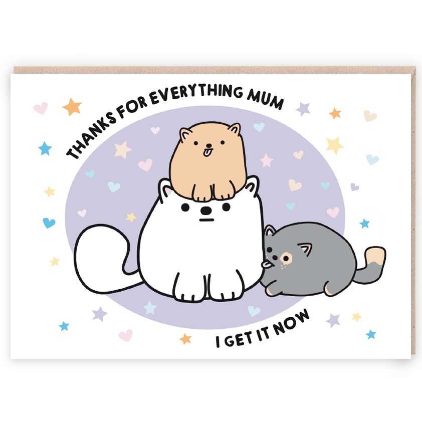 cats funny mothers day card