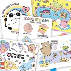 cute postcard set