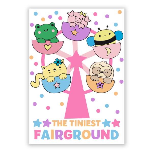 tiny fairground postcard