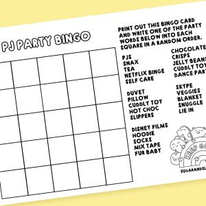 pj party bingo card free download