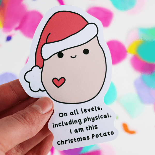 christmas potato vinyl sticker