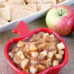 This Caramel Apple Pie Dip is a simple and delicious fall treat made from the heart of the season's favorite pie with a touch of caramel.