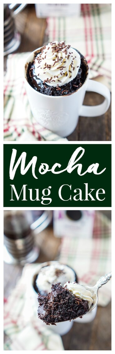 This Mocha Mug Cake is bold and rich and so easy to make! It's ready to eat in less than 5 minutes and loaded with notes of coffee, chocolate, and sugar!