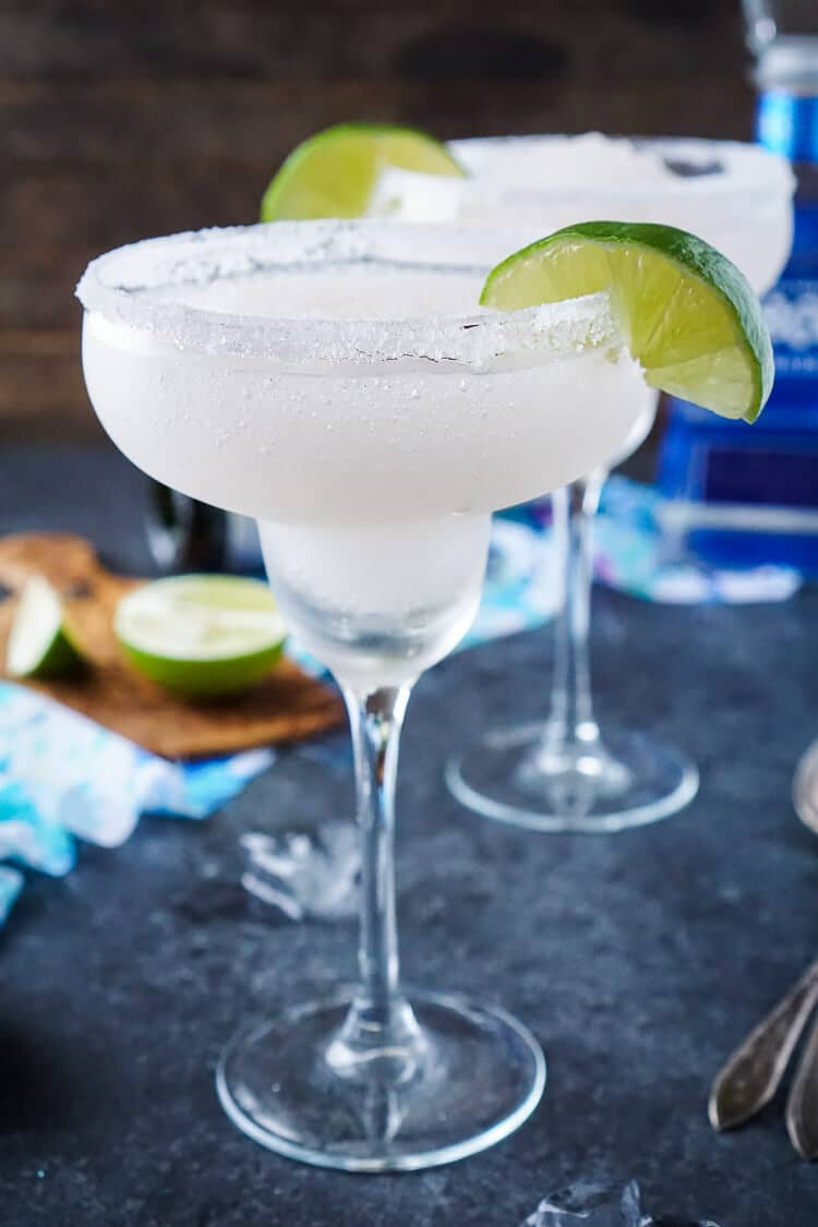 These Frozen Champagne Margaritas are a fun blend of silver tequila, bubbly champagne, limes, and ice! They're perfect for New Year's Eve, Cinco de Mayo, or any occasion where you just want a cocktail that's refreshing and delicious!