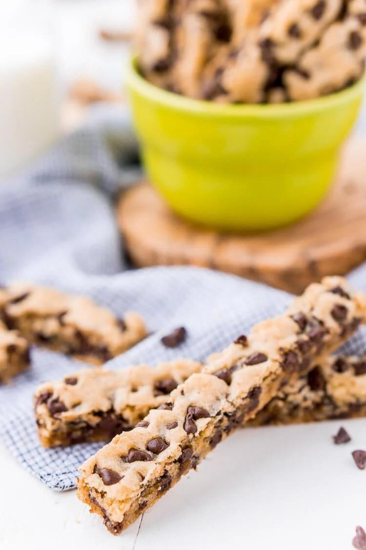 Chocolate Chip Cookie Sticks Recipe Sugar Amp Soul