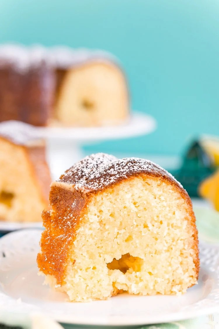 This Lemon Butter Cake is a dense and delicious pound cake loaded with sugar, butter, and lemon for the ultimate summertime cake!
