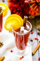 This Pomegranate Cider is an instant fall favorite! A cozy, hot drink that's loaded with spices, citrus, and delicious pomegranate. Add rum or whiskey to turn it into a cocktail!