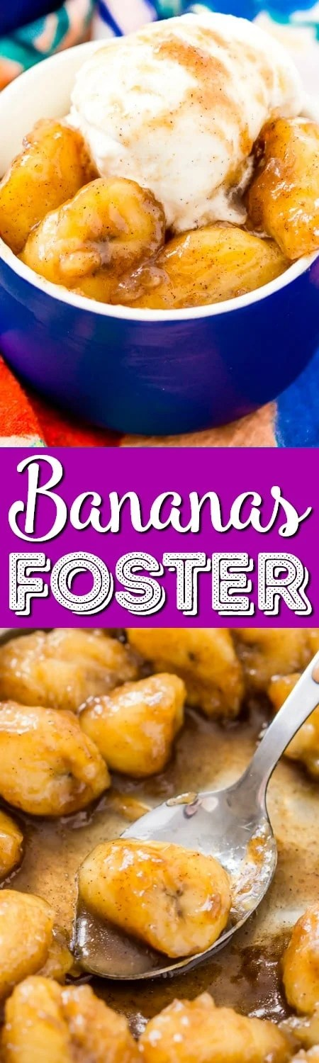 Bananas Foster is a deliciously rich and easy recipe laced with dark rum and brown sugar for a warm sweet dessert you can make in less than 15 minutes and will want to make again and again!