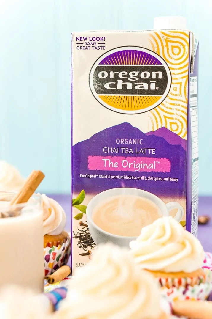 Chai Cupcakes with Vanilla Frosting are laced with the rich and warm spices you crave in the fall. This treat is the perfect pick-me-up for when you need to stop for a breather during this busy season!