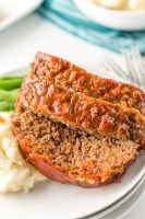 Meatloaf is a tried and true favorite, and you'll love having this easy recipe on hand. The sauce is made with ketchup, mustard, and brown sugar for sweet and savory flavors that are totally irresistible!