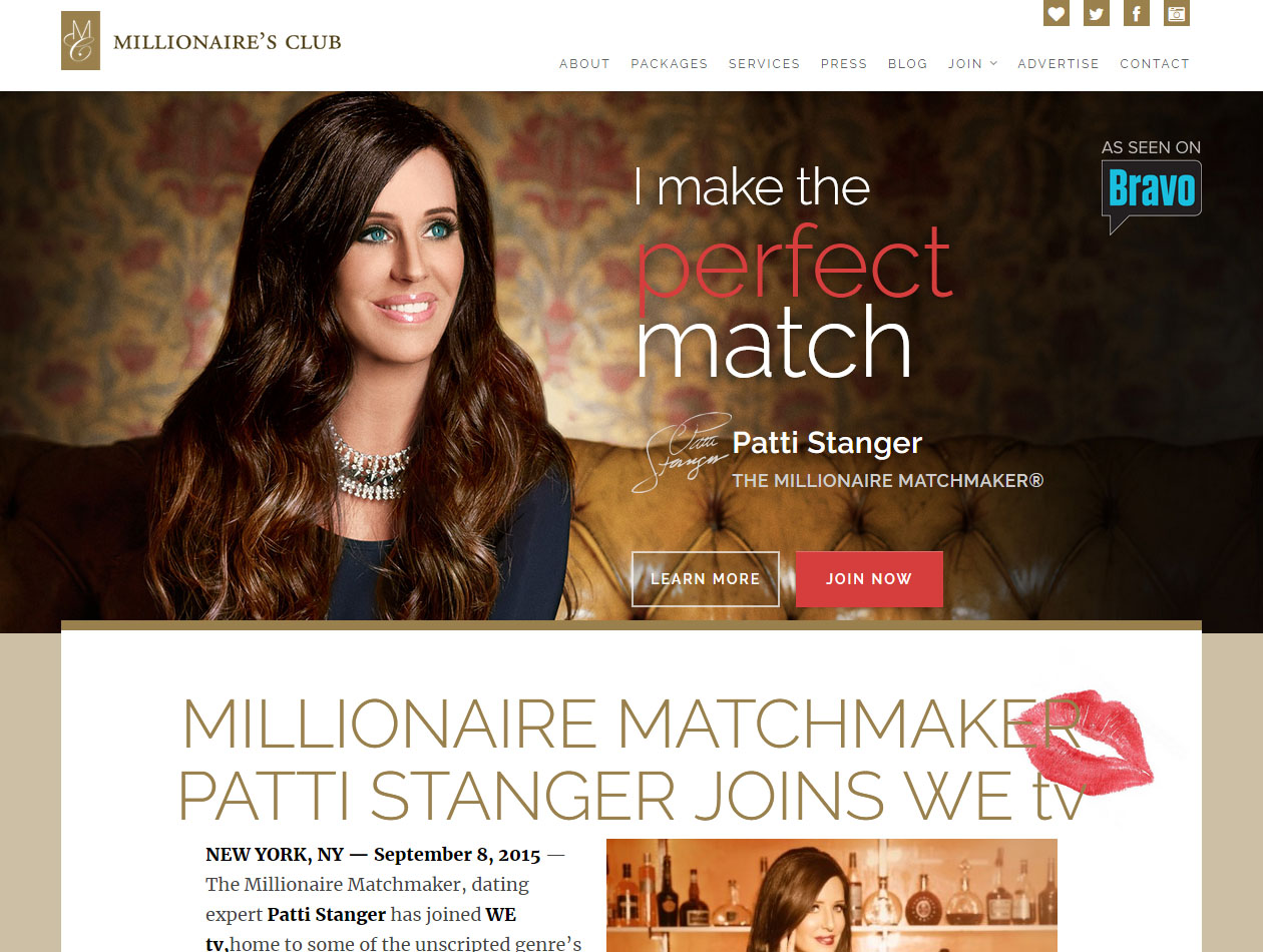 The millionaire club dating service