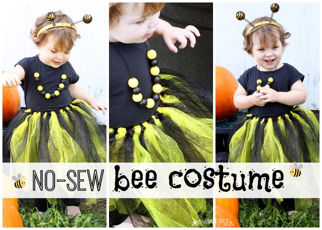 No Sew DIY Bumble Bee Costume