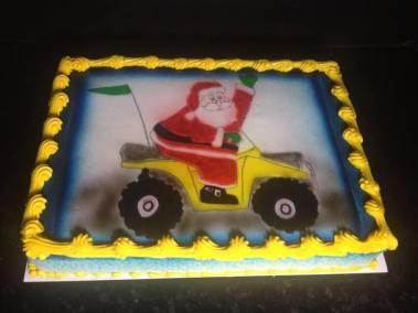 Santa on 4 wheeler