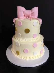 Pink polka dot and bow