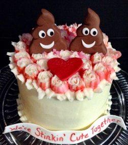 Valentine poop emoji