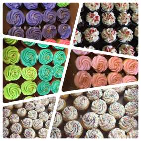 A cupcake collage