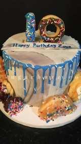 A donut cake