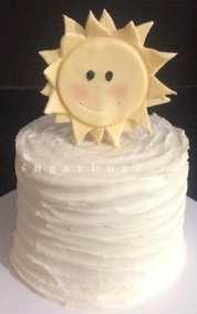 A sunshine smash cake