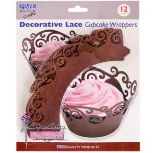 Chocolate Swirls Cupcake Wrapper