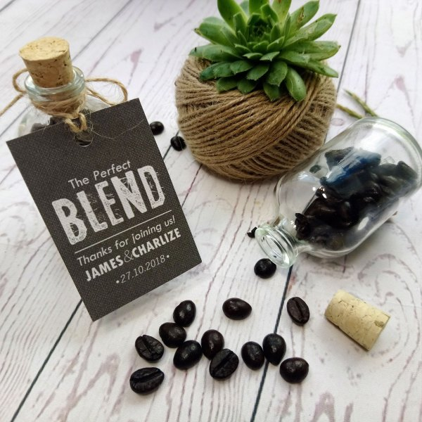 Coffee Miniature Bottle Wedding Favour The Perfect Blend