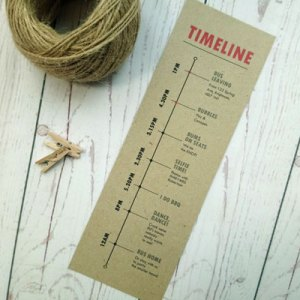 Timeline in craft paper for Passport Destination Travel Timeline