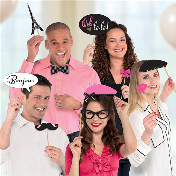 A Day In Paris Photo Booth Props Kit french selfie props