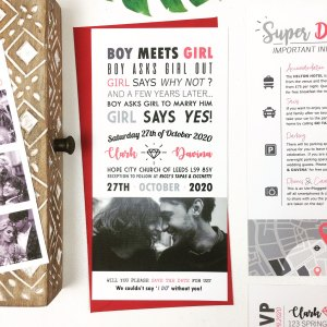 Boy Meets Girl Wedding Invitation