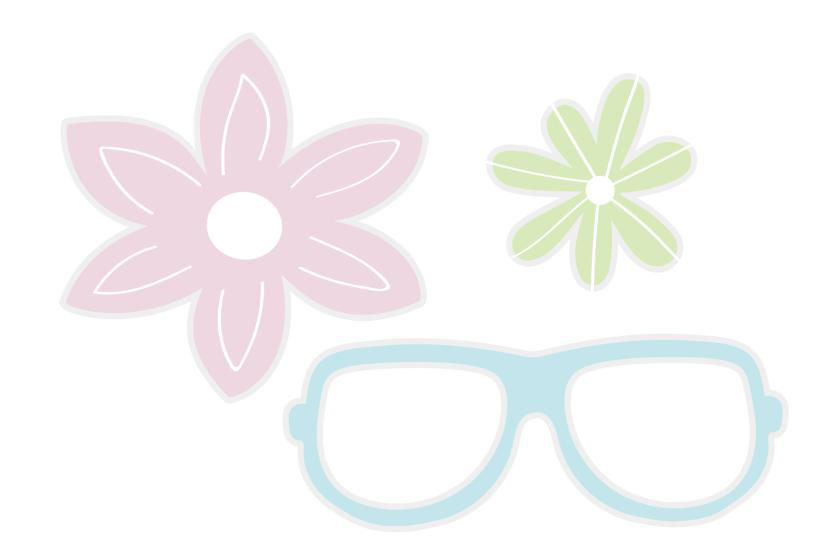 Flower and Hipster glasses wedding photo booth prop