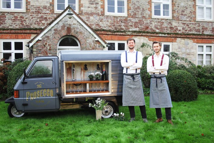 Bubbgle Bros with their Prosecco Van