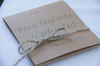 Wedding favour on craft paper