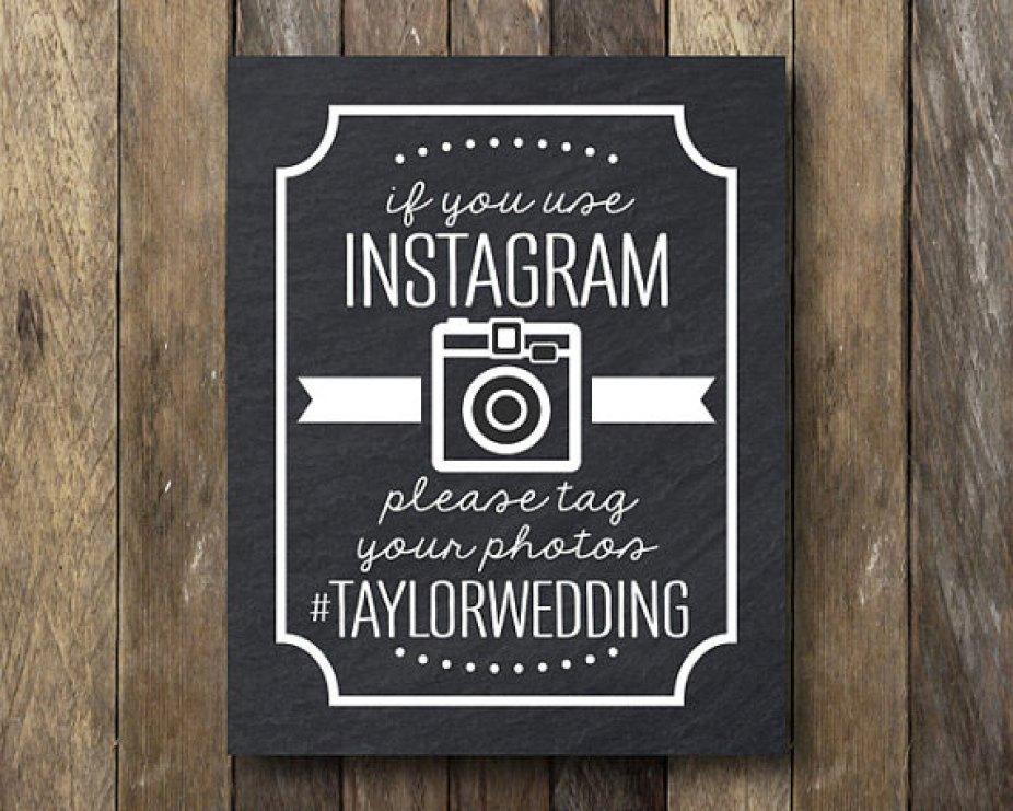 Wedding Instagram sign for pictures