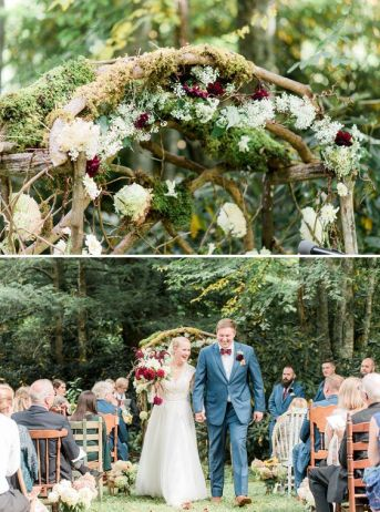 Rustic Wedding Arch set in the woods