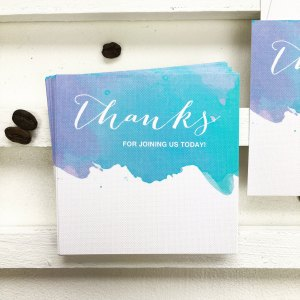 aquarelle splash place card