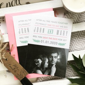 Personalised Save The Date Cards We Do