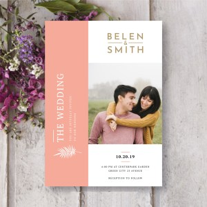 Save The Date Card with wedding couple