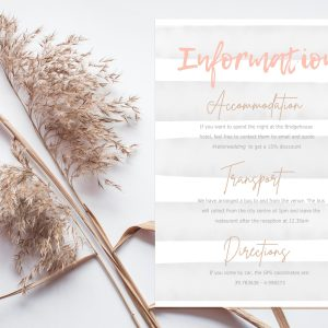 info card with modern and elegant design stripe background