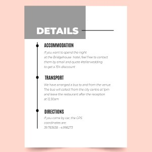 info card with minimal design
