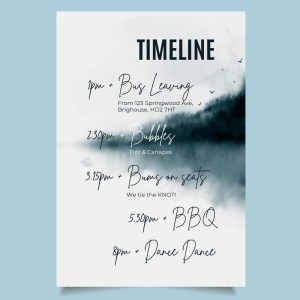 timeline card with navy watercolour background