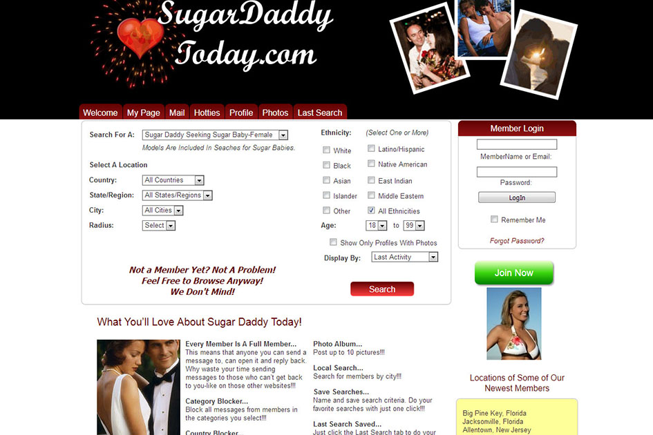 sugar daddy login