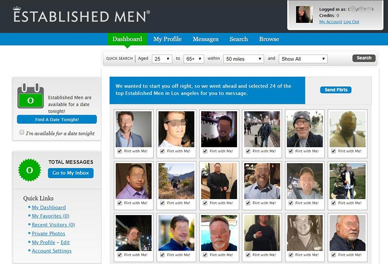 Established Men Dashboard