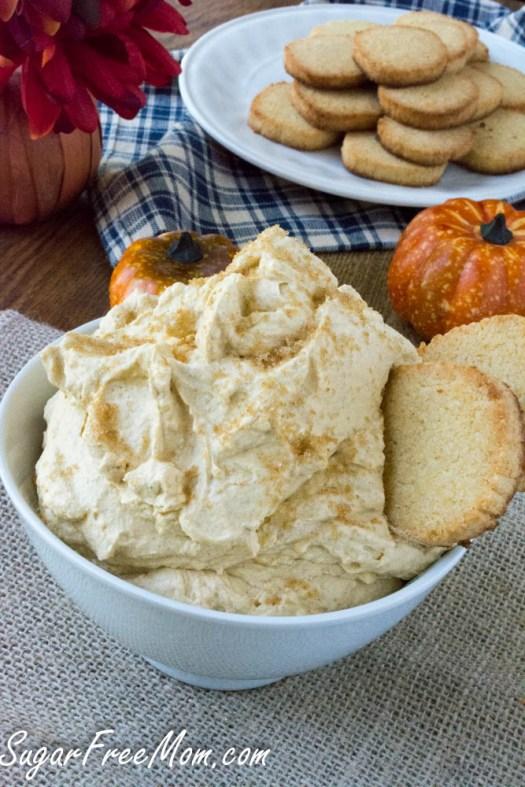 sugar free pumpkin cheesecake dip