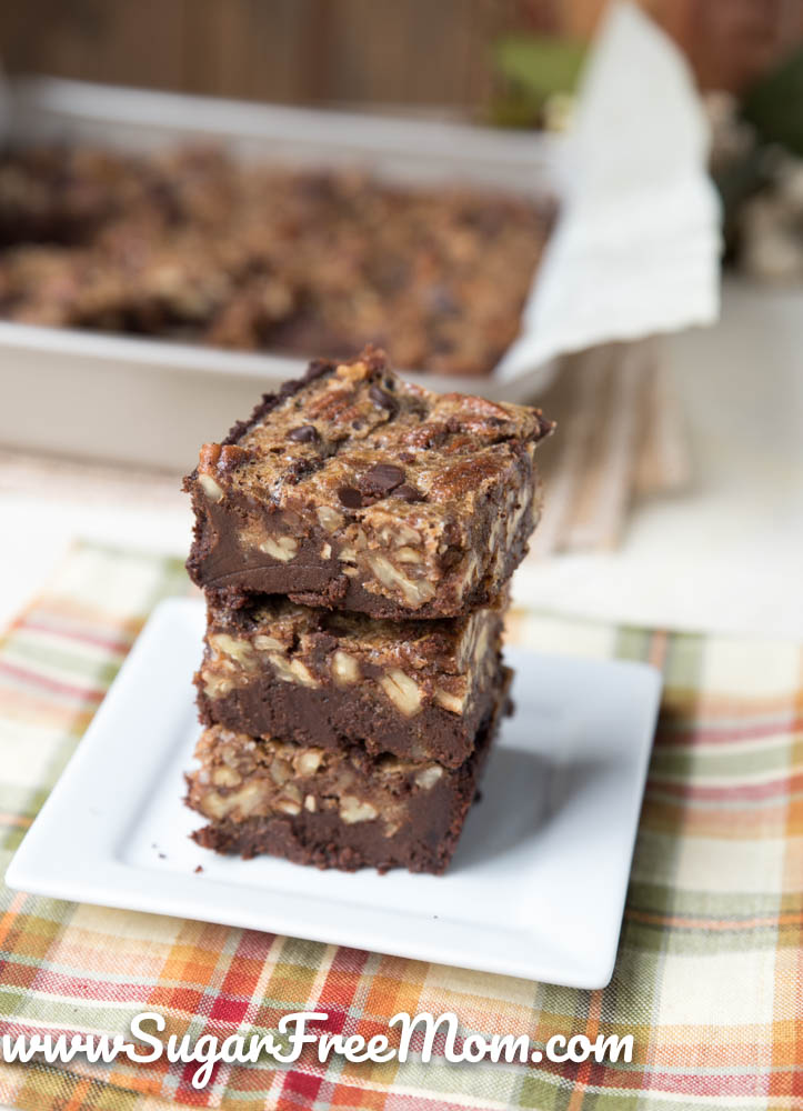 Keto Pecan Praline Brownies