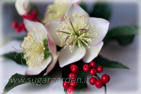 Christmas Rose Cake Detail 1