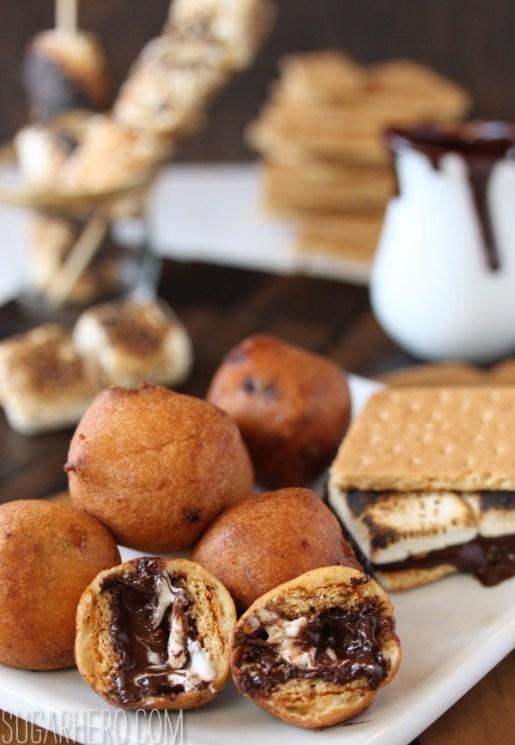 Deep Fried S'mores | SugarHero.com