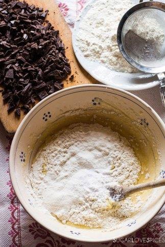 ricotta chocolate cake-prep
