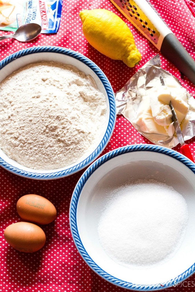 Crostata (Jam Tart)-ingredients