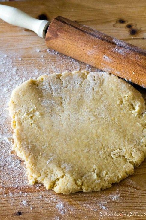 Crostata (Jam Tart)-rolling the crust