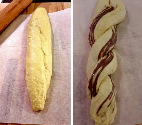 Nutella pain brioche braid