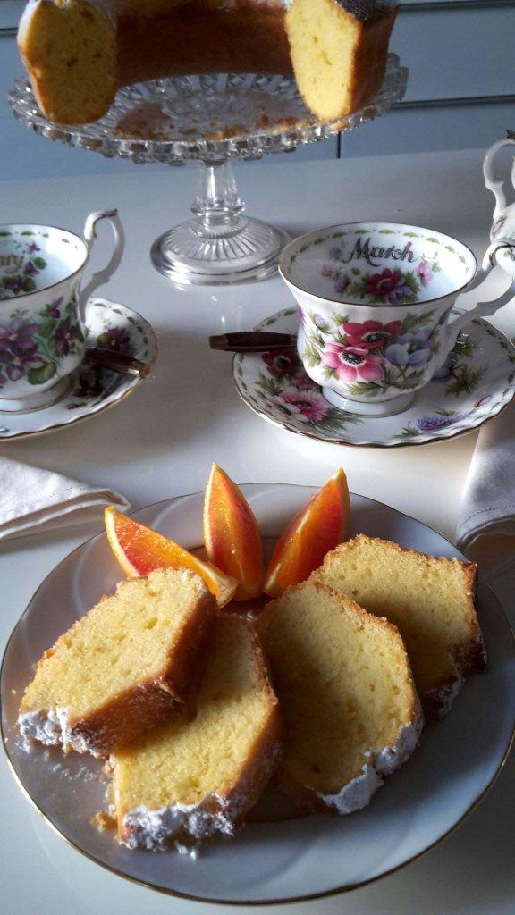 Orange Ginger Yogurt Bundt Cake