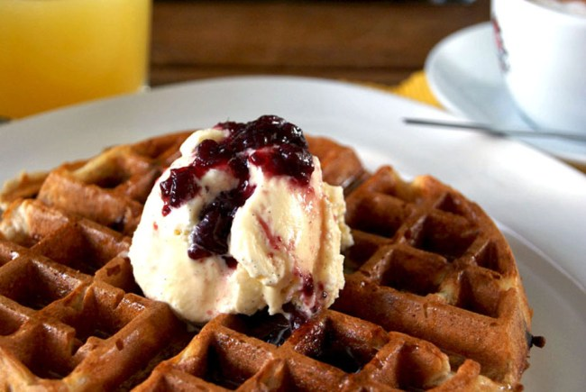 dark chocolate chips belgian waffles